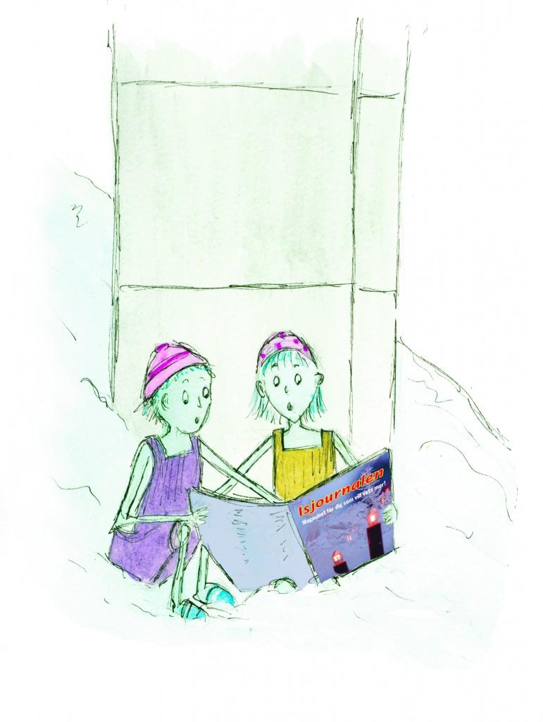 barnen läser tidningen