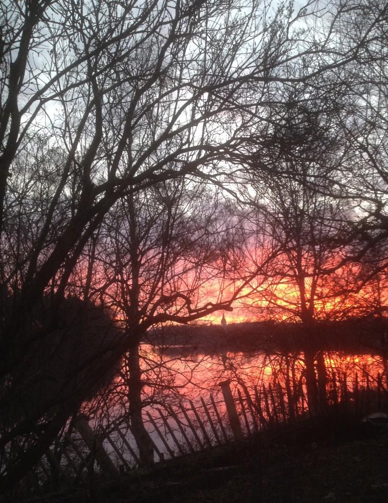 Soluppgång över dalälven